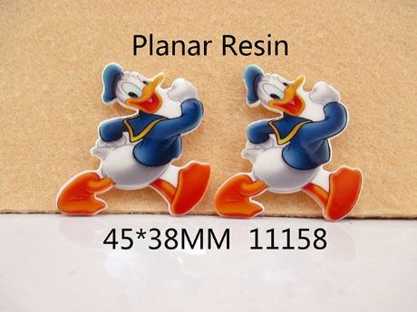5 x 37mm DONALD DUCK LASER CUT FLAT BACK RESIN HEADBANDS HAIR BOWS CARD MAKING